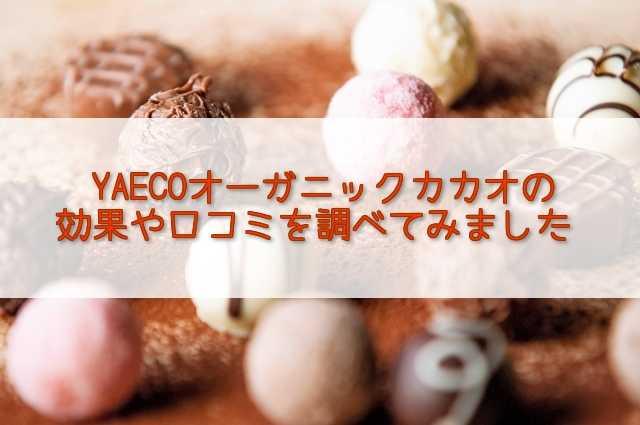 YAECO(ヤエコ)オーガニックカカオの効果や口コミは?購入方法も調査!