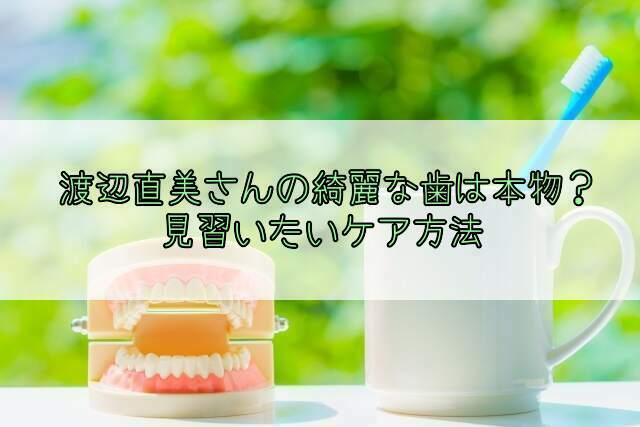 渡辺直美サンの綺麗な歯はセラミック?天然?口腔ケア方法を見習いたい!